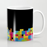 tetris Mugs featuring Tetris by Psocy Shop