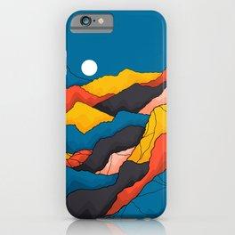 Mountain fields iPhone Case