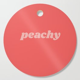 peachy Cutting Board