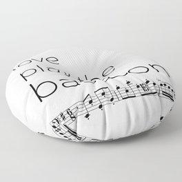 Live, love, play the bassoon Floor Pillow