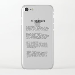 The Four Agreements BW #minimalism Clear iPhone Case