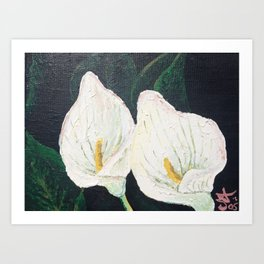 Calla Lily ... Winter Lilly Lily Lilies Lillies White Art Print