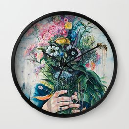 The Last Flowers Wall Clock