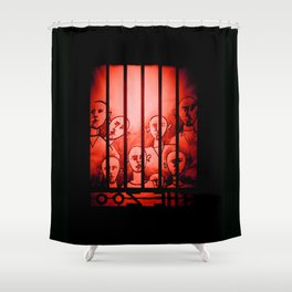 The Zoo [Red] Shower Curtain