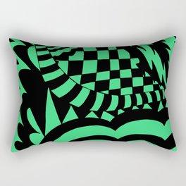 Crazy Patterns green black Rectangular Pillow