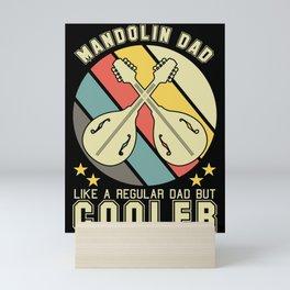 Mandolin Father Retro Instrument Musician Mini Art Print