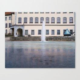 Castle fountain Canvas Print