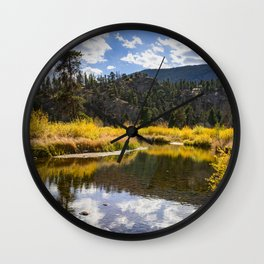 8268 - Autumn, Moraine Park, Rocky Mountain National Park, Colorado Wall Clock