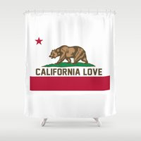 2pac Shower Curtains featuring California Love by Poppo Inc.
