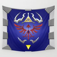 shield Wall Tapestries featuring Zelda Shield by Janismarika