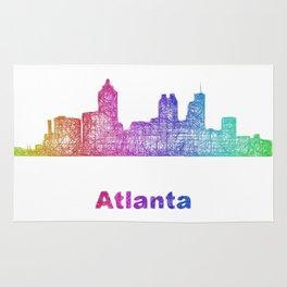 Rainbow Atlanta skyline Rug