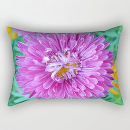 Aster with Crab Spider Rectangular Pillow