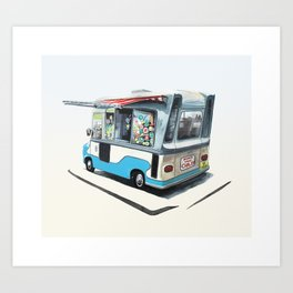 Ice Cream Van. Richmond upon Thames Art Print