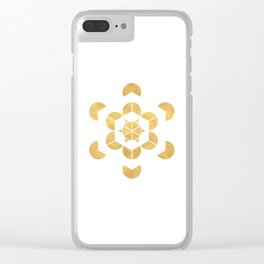 HEXAHEDRON CUBE sacred geometry Clear iPhone Case