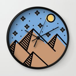 Desert Moon Wall Clock