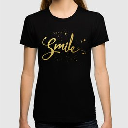 Gold Smile Quote T-shirt