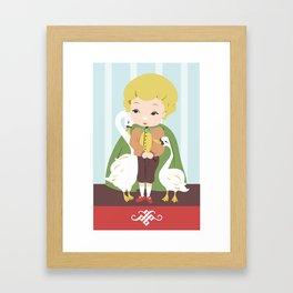 Porcelain Boy (Blond) Framed Art Print