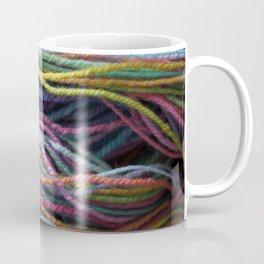 Rainbow Handspun Yarn / Multi-colored Coffee Mug