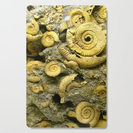 Fossils - Ammonite - Coiled Cephalopods  Cutting Board