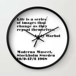 series of images - andy quote Wall Clock