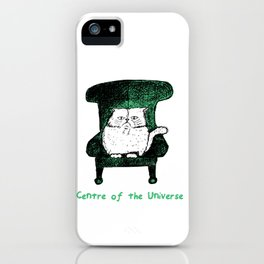 Centre of the Universe (Green) iPhone Case