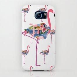 Flamingo in Hawaiian Shirt Pattern iPhone Case