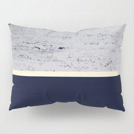 Navy Blue Pale Yellow on Navy Blue Concrete #1 #decor #art #society6 Pillow Sham
