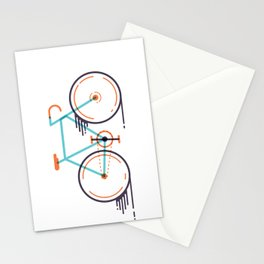 speed bike Stationery Cards