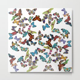 Butterfly Invasion Metal Print