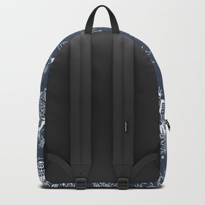 TRADITIONAL TATTOO PATTERN (DARK) Backpack