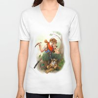 camp V-neck T-shirts featuring camp by Fargon