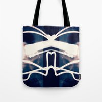 rorschach Tote Bags featuring Rorschach  by Angela