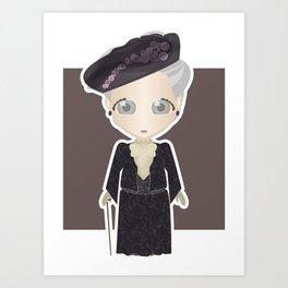 Violet Crawley, Dowager Countess of Grantham Art Print