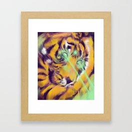 Laser Tiger Framed Art Print