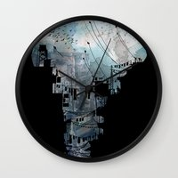 india Wall Clocks featuring Secret Streets II by David Fleck