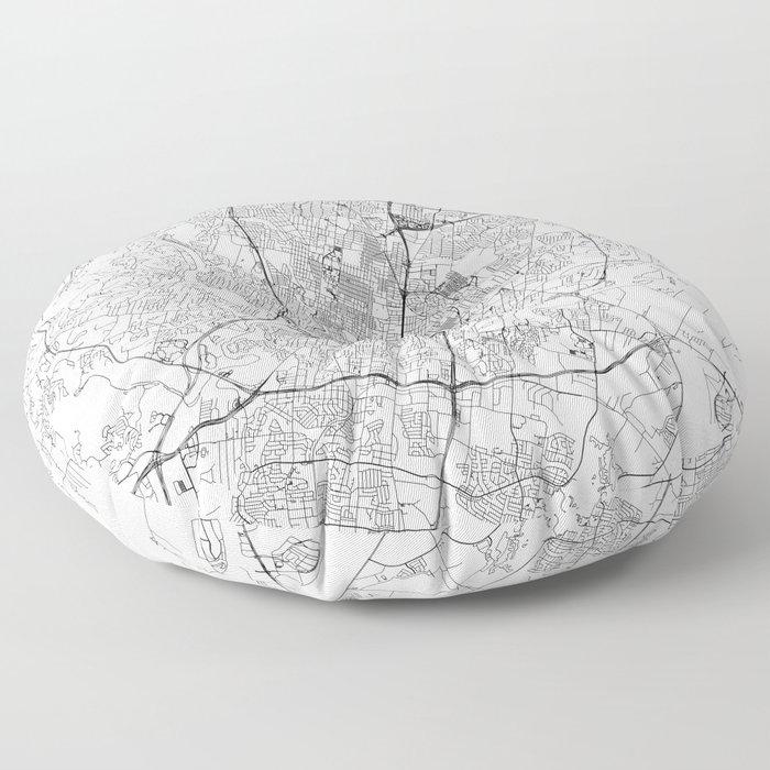 Austin White Map Floor Pillow