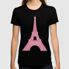 OUI OUI LARGE Womens Fitted Tee Black