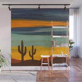 Saguaro Sunset Wall Mural