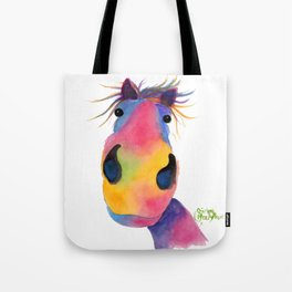 Happy Horse ' PeNeLOPE PiMMs ' by Shirley MacArthur Tote Bag
