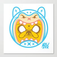finn and jake Canvas Prints featuring Finn & Jake by Miguel Manrique