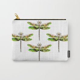 Dragonfly illustrated flying insect Carry-All Pouch