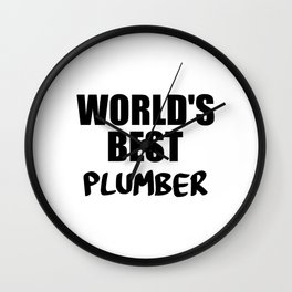 worlds best pumber Wall Clock