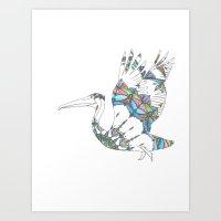 Mandala Pelican Art Print