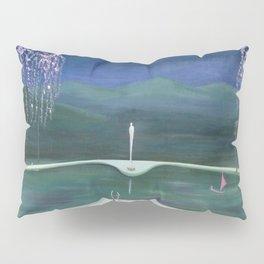 True Romance - Moonlight Dance by the Dogwood Trees portrait by Marguerite Blasinggame Pillow Sham