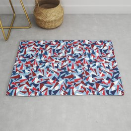 Breaking the Glass Ceiling! Red White & Blue Rug