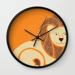 L is for Lion (Text free) Wall Clock