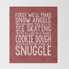 ELF CHRISTMAS MOVIE To-Do List Snow Angels Skating Cookie Dough Snuggle Buddy The Elf Will Ferrell Throw Blanket