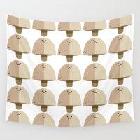 mushroom Wall Tapestries featuring Mushroom by Mister Linus