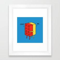 Le go! No Framed Art Print