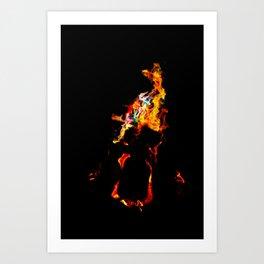 Bright Flames Art Print